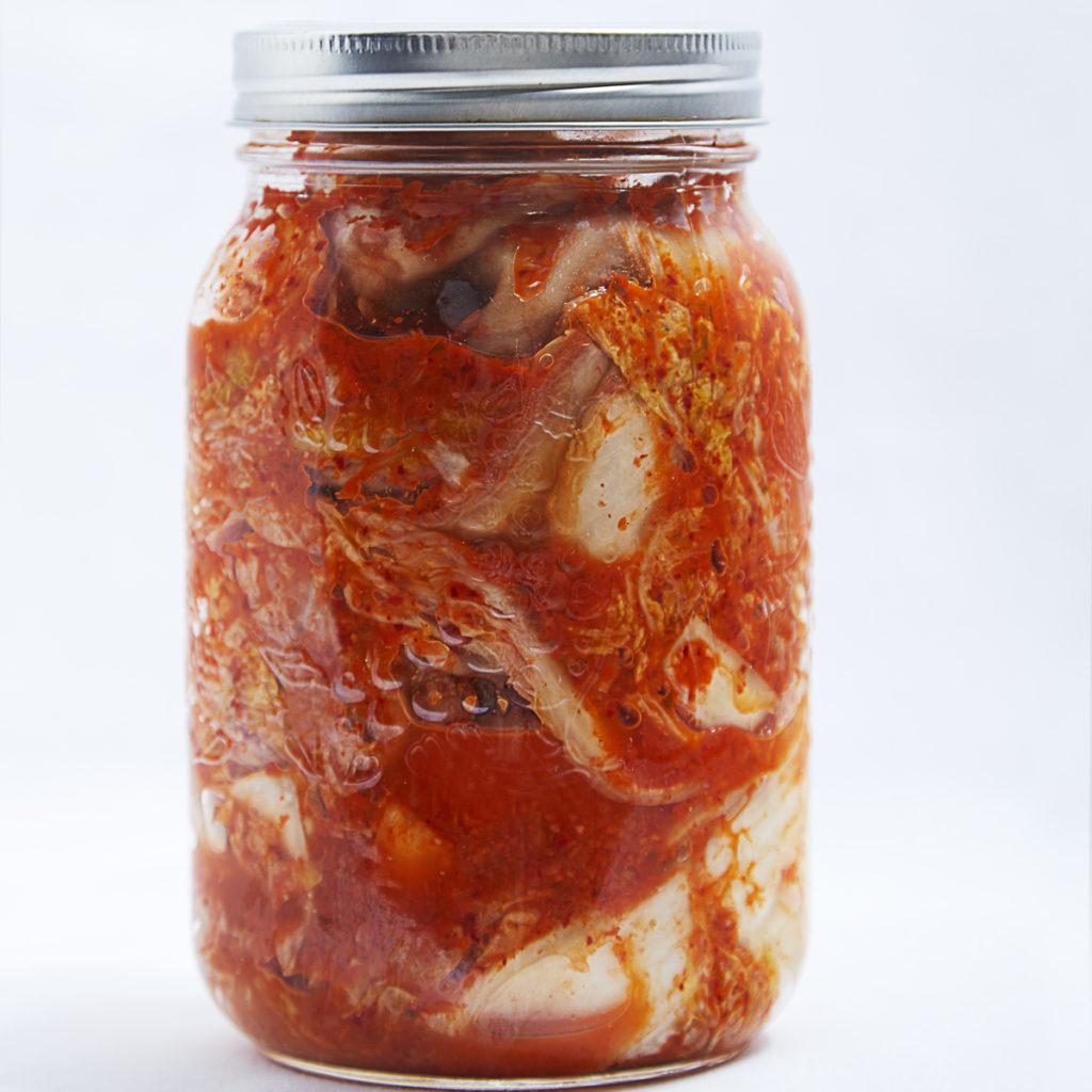 Fermented Food in a clear jar