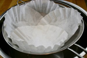 Cover the entire sieve 2 layers coffee filters