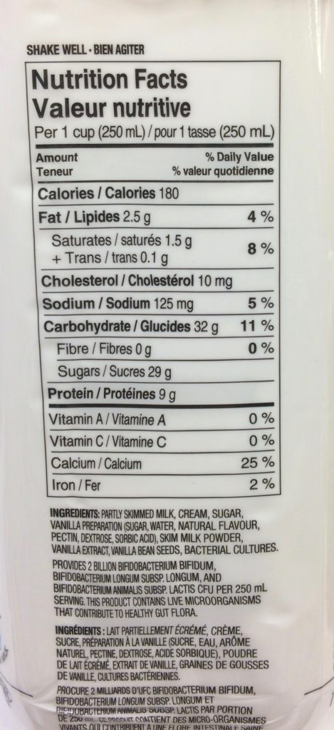 look at the sugar content!