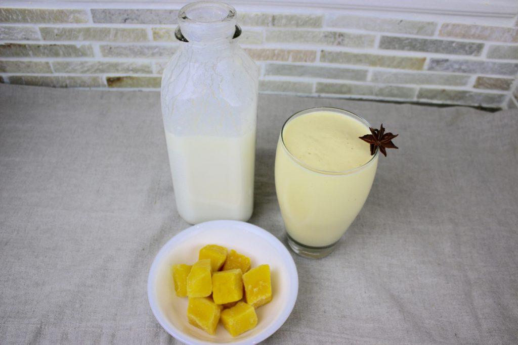 Chai mango lassi ingredients
