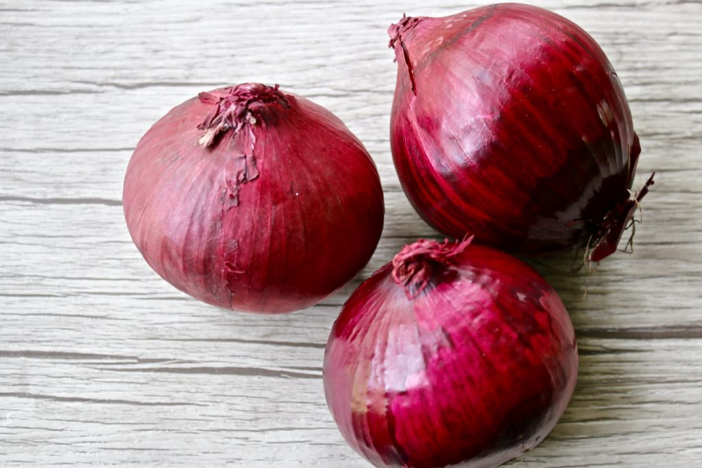 lacto-fermented red onions