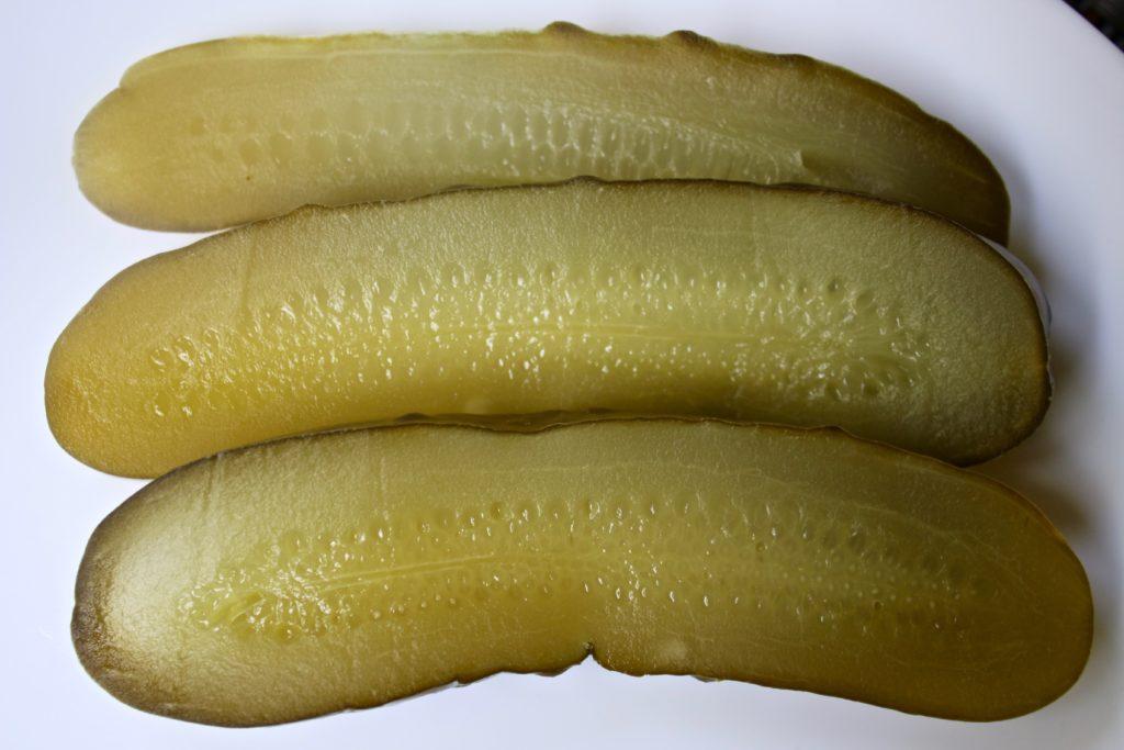 lacto-fermented garlic-dill cucumbers