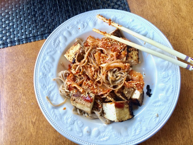 The Cultured Foodie Soba Kimchi